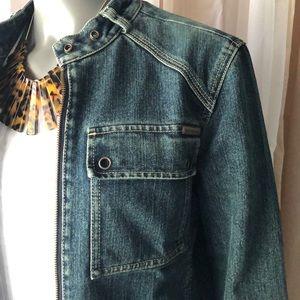 Calvin Klein Moto Denim Jacket